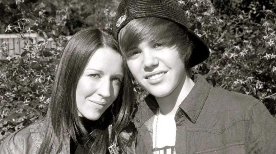 Justin Bieber and his mum