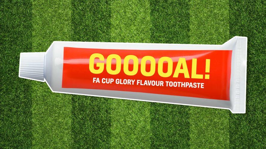 Football toothpaste