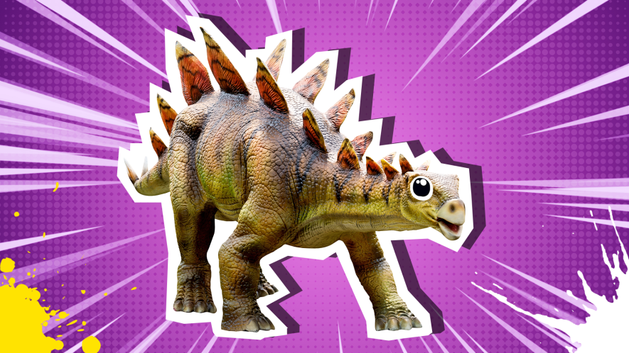 Mystery dinosaur with small head, large body and spines