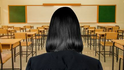 Back of head - person with long black hair