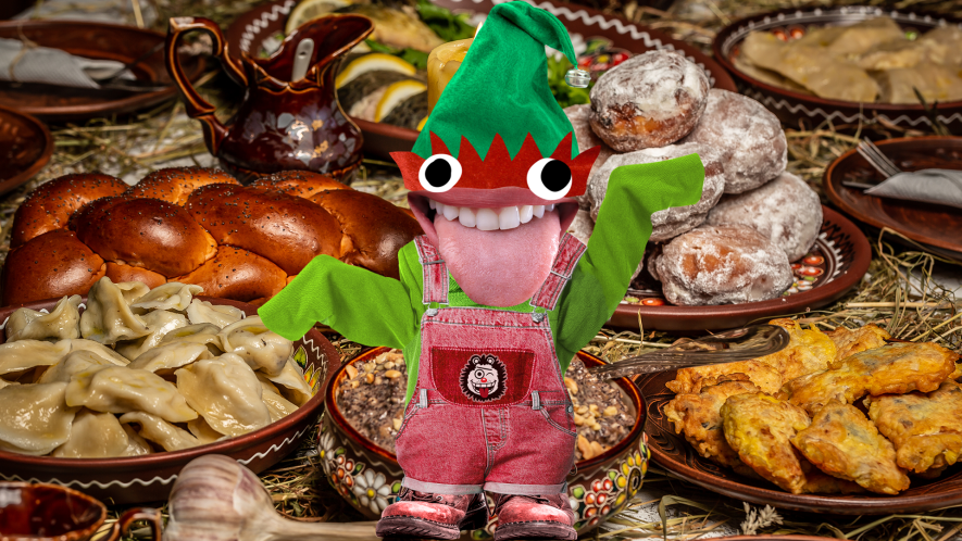 Christmas food and Beano elf