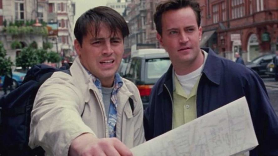 Joey and Chandler in London