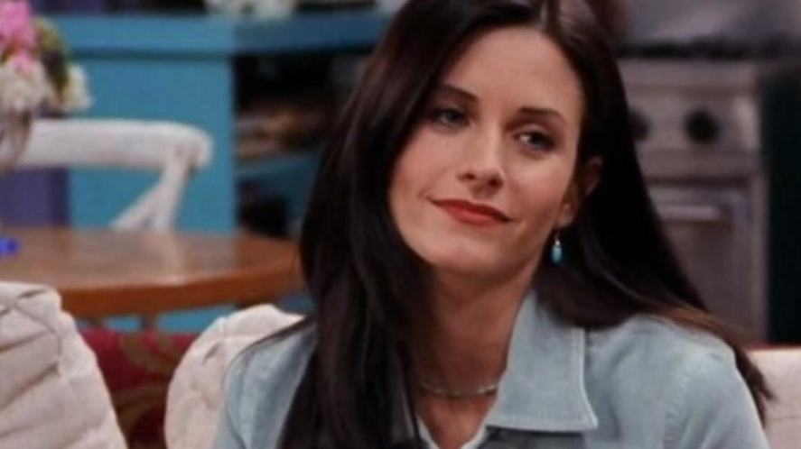 Monica Geller looks a bit annoyed at something