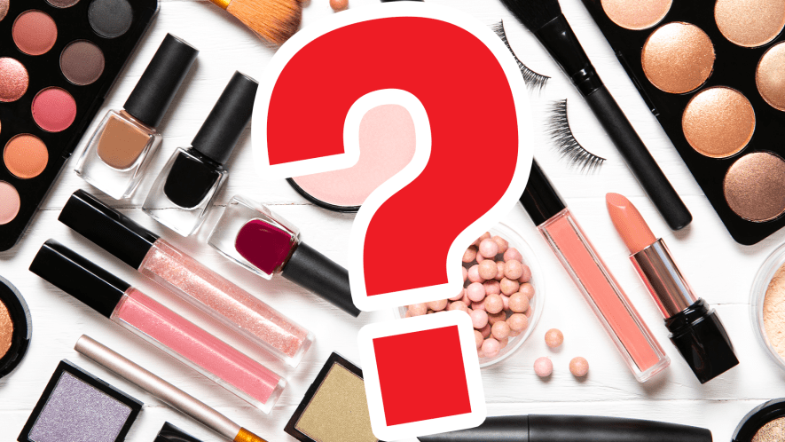 Make up and question mark