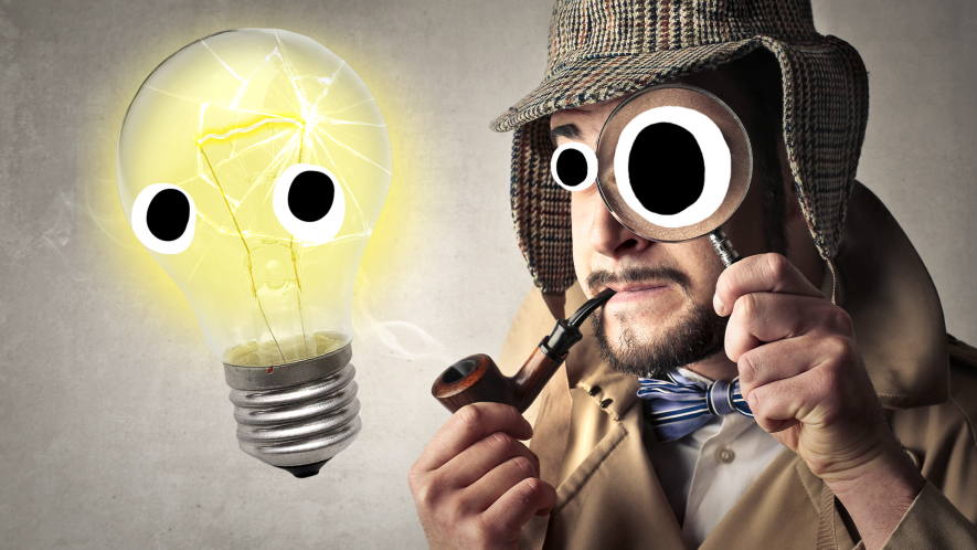 Detective and Beano lightbulb