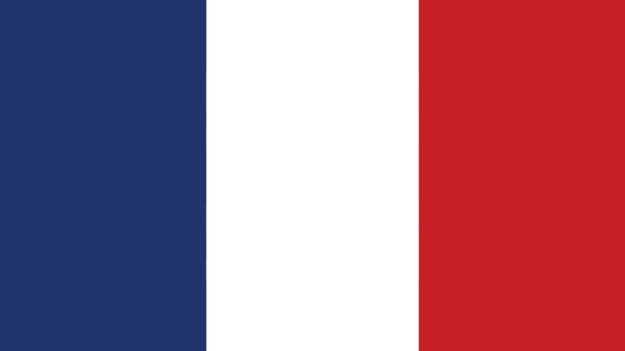 A red, white and blue flag