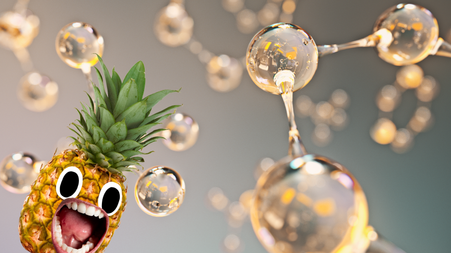 Molecules with screaming pineapple