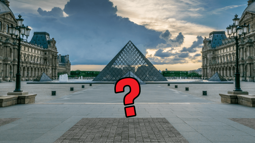Art gallery in Paris and question mark