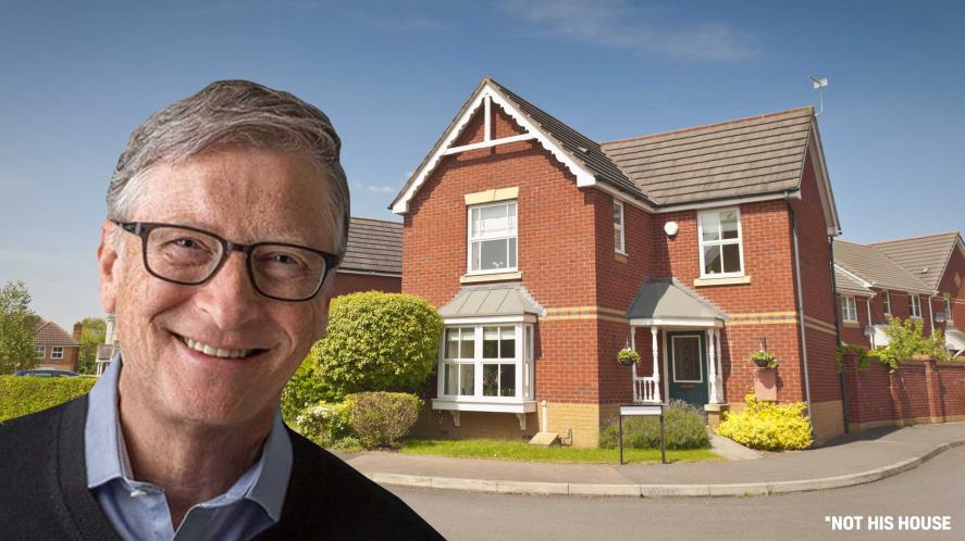 Bill Gates and a house