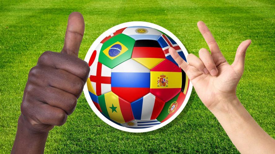 A World Cup themed football
