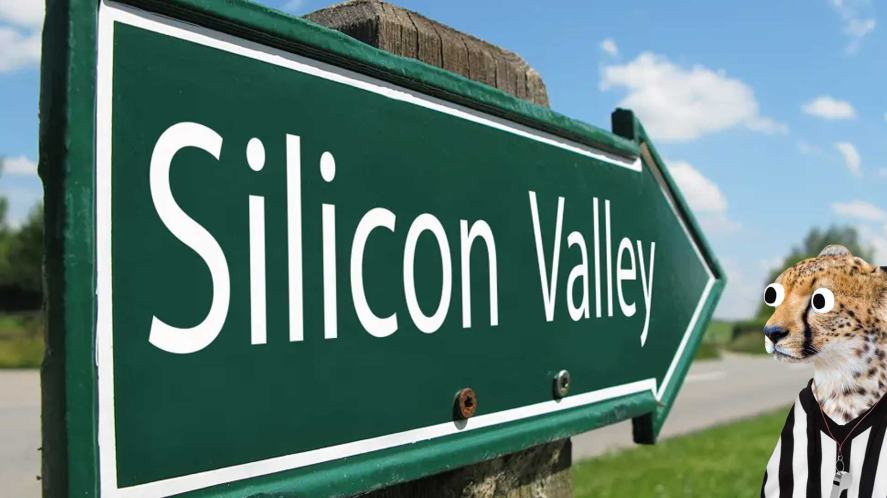 A sign to Silicon Valley