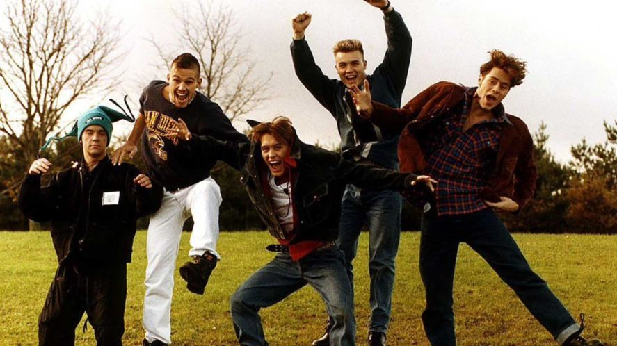 An old photo of Take That