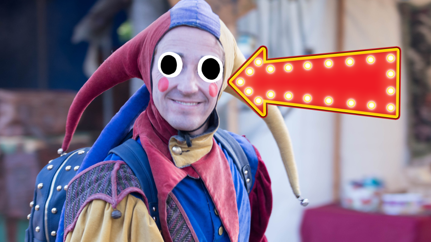 Man dressed as a jester