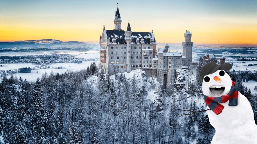 Snowy castle with derpy snowman