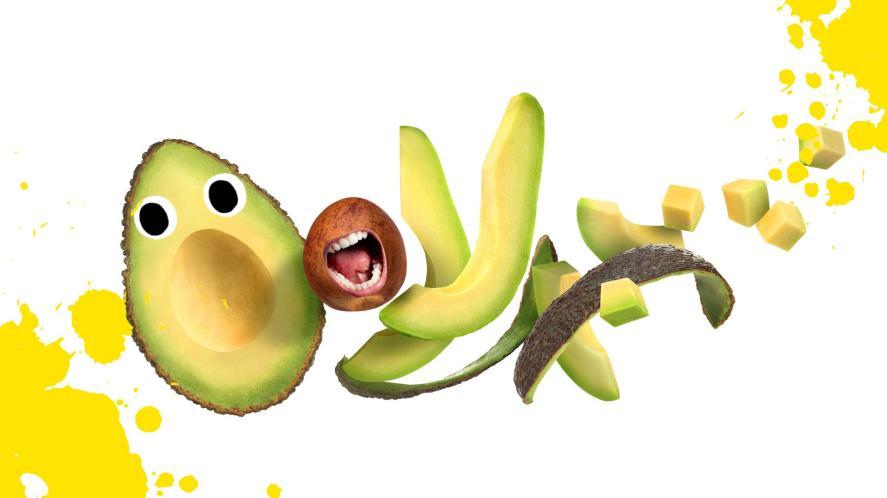 An exploding avocado