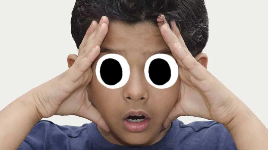 A boy thinking
