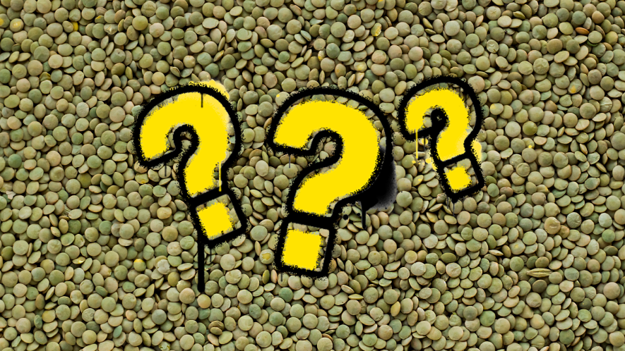 Lentils and question marks