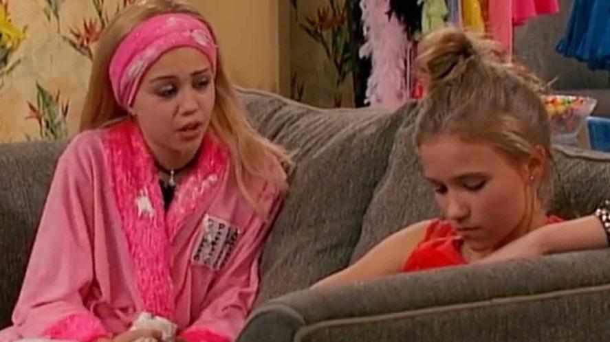 A scene from Hannah Montana