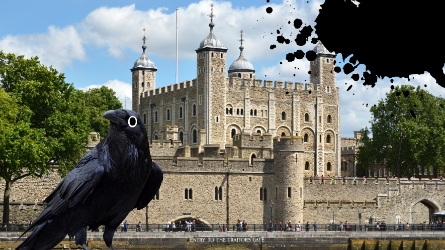 Tower of London with Beano raven and splat