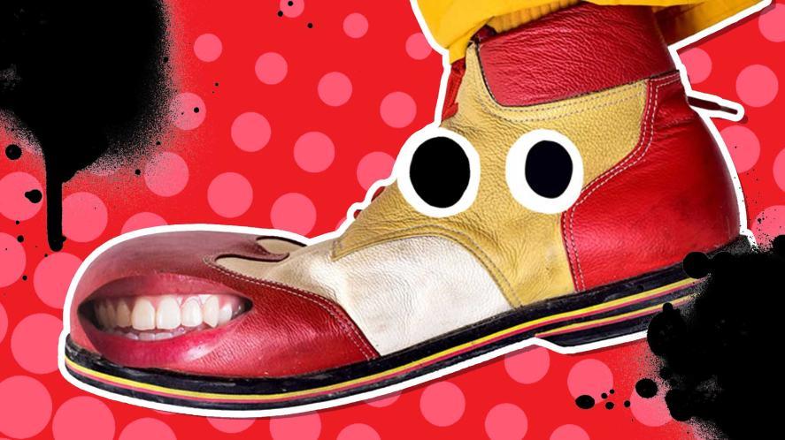 A big pair of clown shoes