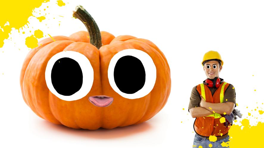 A massive pumpkin