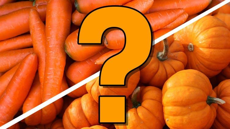 Carrots and pumpkins