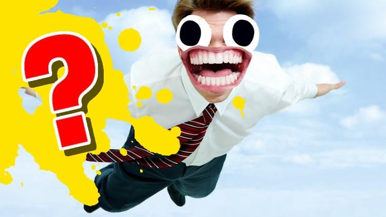 A flying man