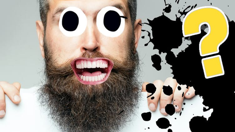 A bearded man