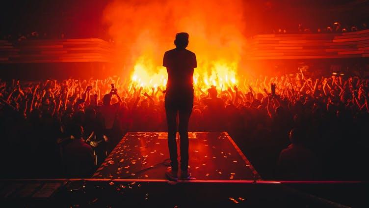 A big pop concert