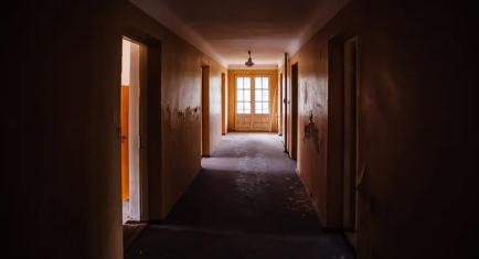 A creepy old corridor