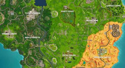 A newer Fortnite map