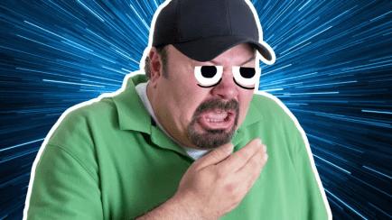 A sneezing man