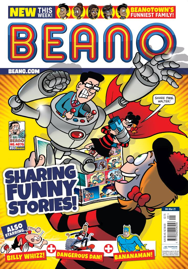 The cover of Beano no. 4075