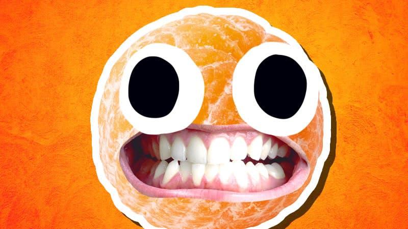A grinning orange