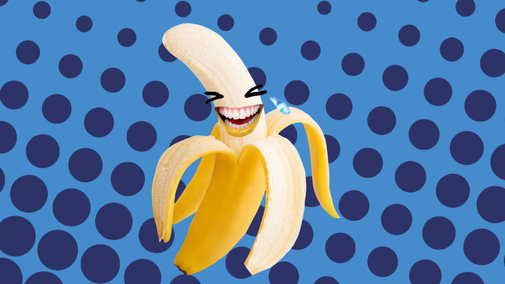 Laughing banana