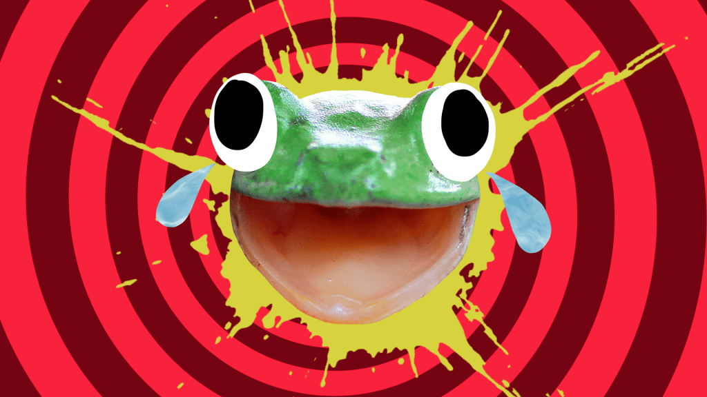 A grinning frog