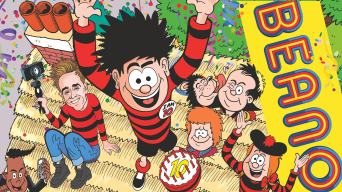 The cover of Beano 4077 –It's Dennis' birthday