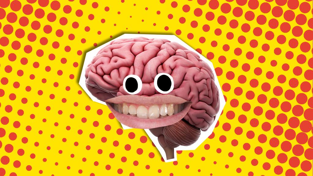 A smiling brain