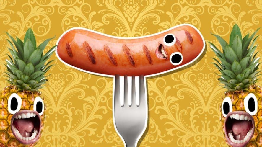 A grinning sausage