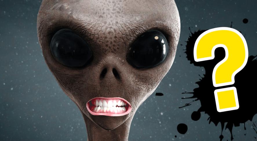 A grinning alien