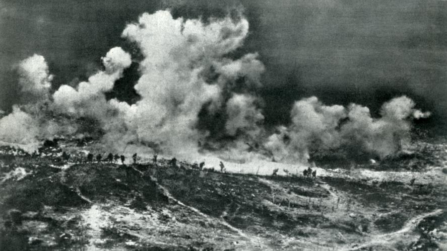 A big explosion in World War 1