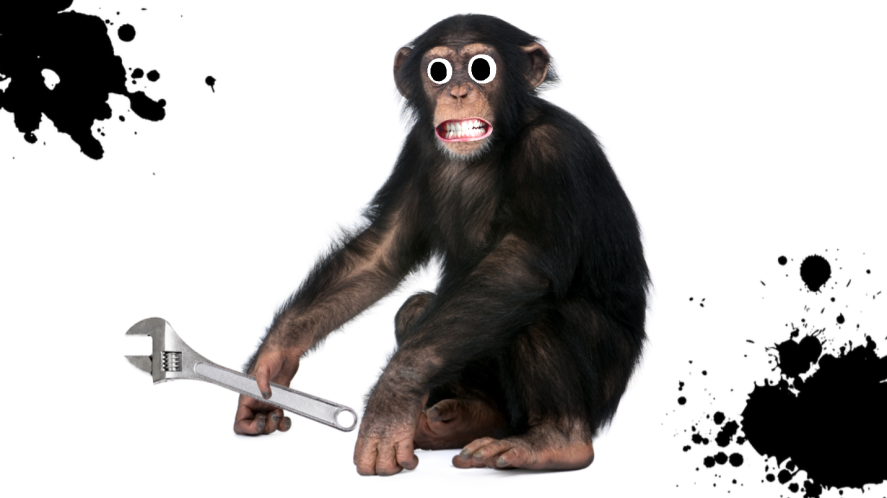 A chimp with a spanner perhaps