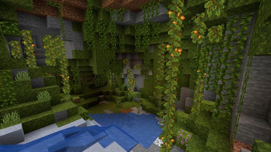 Lush Cave in Minecraft update
