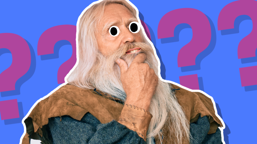 A thinking viking