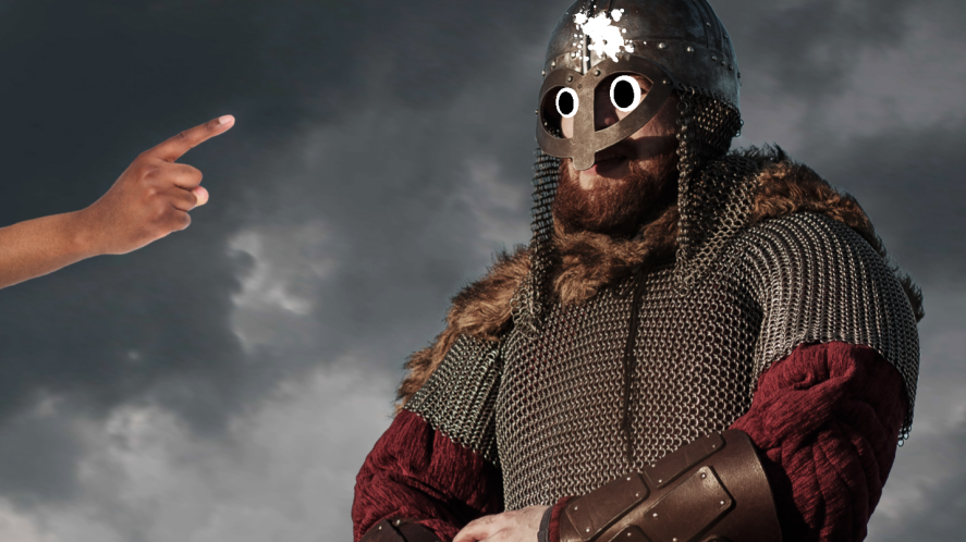 A viking in his armour