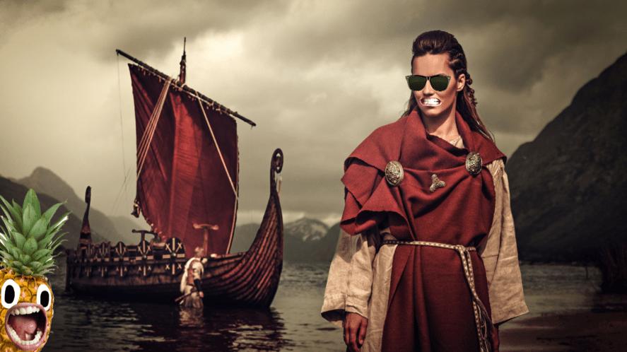 A viking woman and a longboat