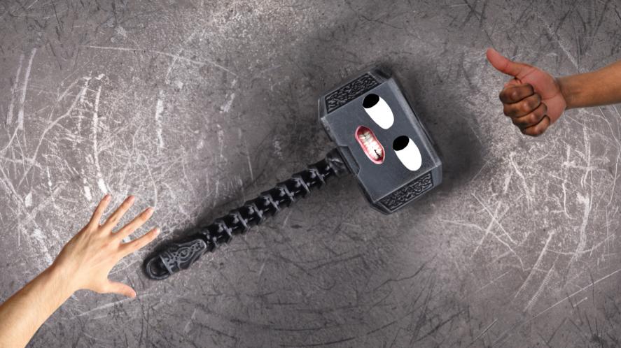 A viking hammer