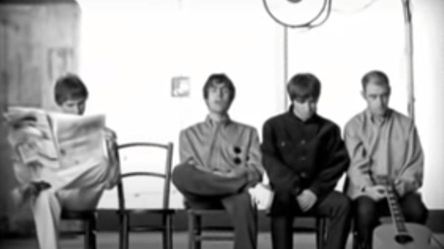 Oasis in the video for Wonderwall