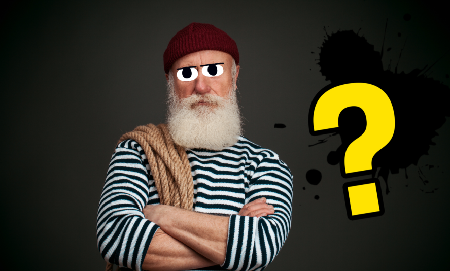 An old sailor with a big beard