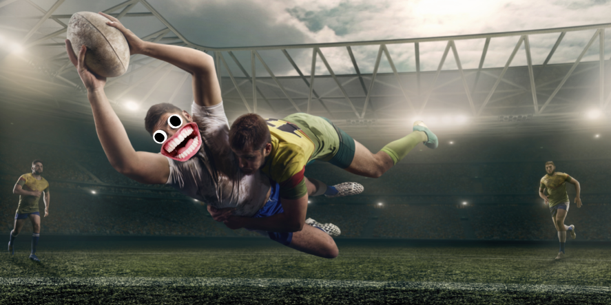 A game of rugby